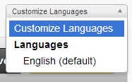 Language Dropdown Box Customize Languages