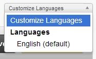 Language Dropdown Box Customize Languages