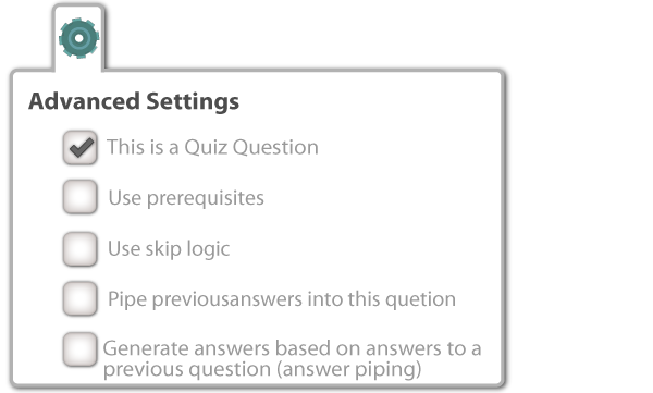 Pinnion Quiz Advanced settings