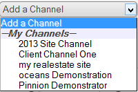 Channel Select Dropdown
