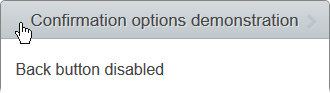 Back button disabled